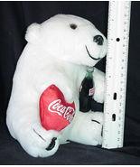 Coke Coca Cola Bear Stuffed Toy Vintage Plush Valentine Teddy Bear White... - $18.99