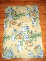 Standard Pillowcases Yellow with Blue Floral Design Two Polyester  Set   - $9.90