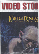 Lord of the Rings Towers Movie Announce Vintage Video Store Magazine SEA... - $79.99