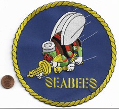 US Navy Seabees Back Patch - $19.79