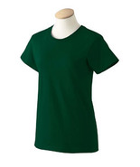 Forest Green Small G2000L Gildan Women ultra cotton T-shirt  - $4.45