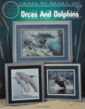 Cross My Heart Counted Cross Stitch Booklet-Orcas and Dolphins - $7.66