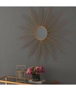 Vintage French Global Views Replica Style Gold XL Sunburst Starburst Mirror - $176.22