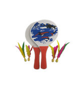 Easy Racket Game Paddle Ball Game Best Badminton Family Lawn Game - €11,90 EUR