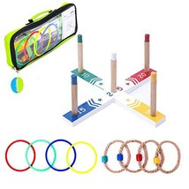 Goutoports Colorful Ring Toss Game Set Fun Family Games for Kids and Adu... - $18.91