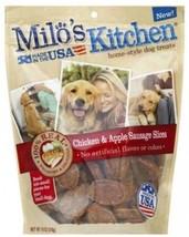 Milo's Kitchen Chicken Sausage Sliced Apple Dry Dog Treats, 18 Oz - $25.17