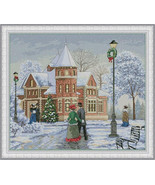 Cross Stitch Embroidery Kit Holiday Evening - $49.26