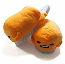 New! Real de Cute Gudetama Plush Doll Slippers Sandals Yellow Sanrio Japan F/S - $46.74