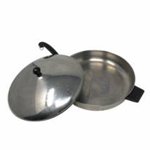 """Farberware Aluminum Clad Stainless Steel 12"""" Skillet Fry Pan w Lid Vintage  - $23.74"""