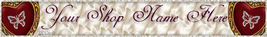 Website Valentines Day  banner Hearts butterflies VTD13a - $7.00