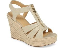 Michael Michael Kors Berkley Platform Wedge Sandals In Metallic Size 9 - $84.14
