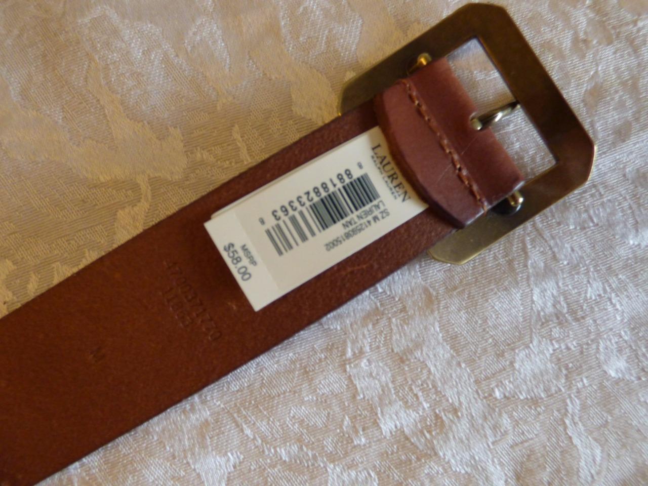$58.00  Lauren Ralph Lauren Langton Whipstitch Jean Belt , Tan, size M