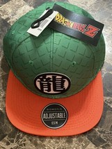 Dragon Ball Z Ryo Kanji Logo Baseball Cap Hat Adjustable Orange & Green ... - $22.76