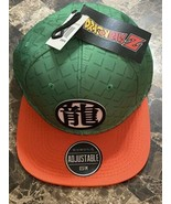 Dragon Ball Z Ryo Kanji Logo Baseball Cap Hat Adjustable Orange & Green ... - $22.76