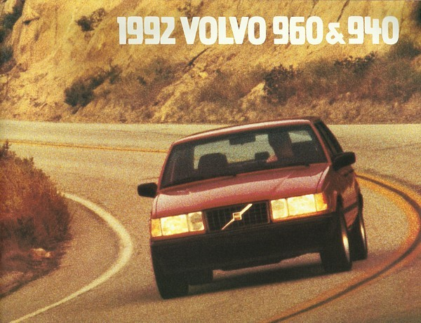 1992 Volvo 940 960 SEDANS sales brochure catalog US 92 GL GLE Turbo