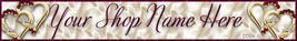 Website Valentines Day Banner double hearts VTD14a - $7.00