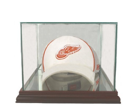 Glass Cap / Hat Display Case with Cherry Wood Molding