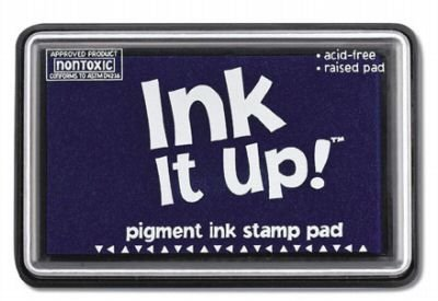 ROYAL BLUE INK IT UP RUBBER STAMP PAD-NEW, SEALED