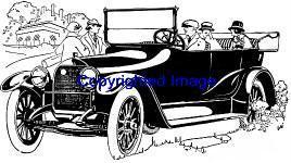 VINTAGE KISSELL AUTO NEW RELEASE mounted rubber stamp