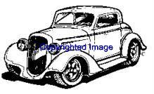 1940's ZZ TOP AUTO NEW RELEASE mounted rubber stamp