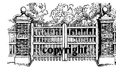 GATED ENTRYWAY~ NEW RELEASE! mounted rubber stamp