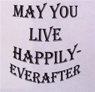 HAPPILY EVER AFTER WORD STAMP mounted rubber stamp