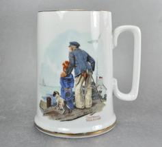 1985 Norman Rockwell Looking Out to Sea Coffee Mug Stein - $7.00