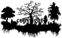 TREE ALONG A LAKE ~ NEW RELEASE! mounted rubber stamp - $8.50