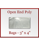 100 Open End Poly Bags 3 x 4 inches USDA FDA Ap... - $6.48