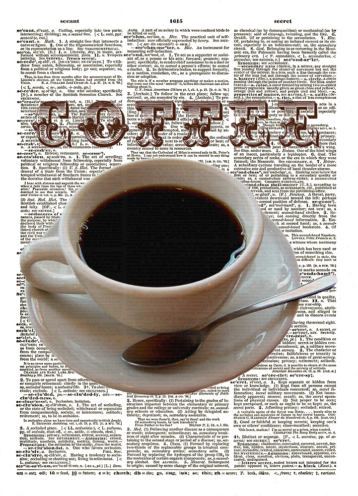 COFFEE Fun Fresh Artwork for Your Kitchen Vintage Dictionary Art Print No. 0146
