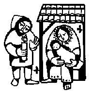 CIJS LATIN STYLE NATIVITY NEW MOUNTED rubber stamp