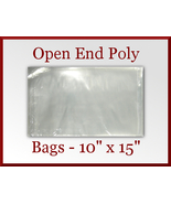 100 Open End Poly Bags 10 x 15 inches USDA FDA ... - $16.48