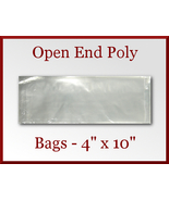 100 Open End Poly Bags 4 x 10 inches USDA FDA Approved - $8.98