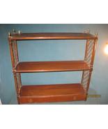 Vintage Mahogany, BrassWall hung book, display shelf - $215.00