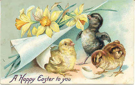 Happy Easter To You Tucks 1908 Vintage Post Card - $5.00
