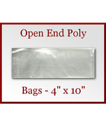 200 Open End Poly Bags 4 x 10 inches USDA FDA Approved - $16.98