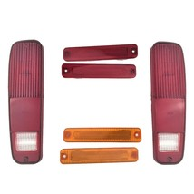 FORD 73-79 F-150 F150 F250 Truck 78-79 Bronco 6pc Tail Light and Side Fender Kit image 1
