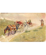 Red River Carts artist John Innes 1906 Vintage Post Card - $6.00