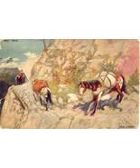 The Pack Train artist John Innes 1906 Vintage Post Card - $6.00