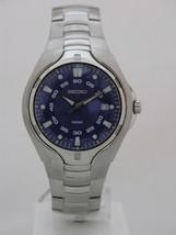 Seiko mens watches quartz blue dial stainless steel bracelet caliber 7N4... - $207.22