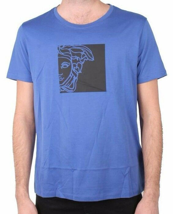 Versace Collection Girocollo Half Face Graphic Men's Tee NWT