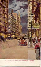 Madison and Dearborn Streets Chicago Illinois Vintage 1913 Post Card - $5.00