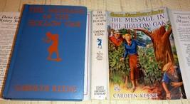Nancy Drew Message in the Hollow Oak - Early HC/DJ by Carolyn Keene VG/VG - $48.75