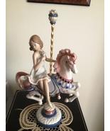 Lladro Girl on Carousel Horse # 1469 ~ Retired - $699.00