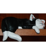 Black & White Sleeping Cat for Shelf - $8.00