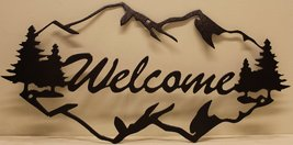 Mountains Welcome Sign Metal Wall Art - $30.00+