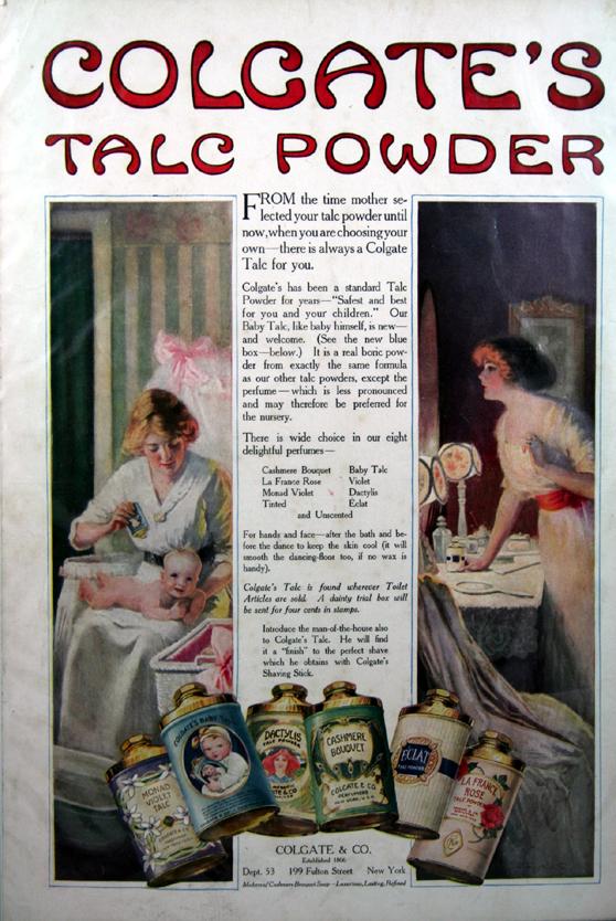 Vintage Cashmere Bouquet Magazine Ad 1920's