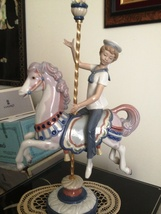 Lladro Boy on Carousel Horse # 1470 ~ Retired - $649.00