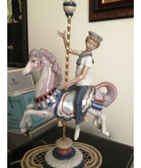 Lladro Boy on Carousel Horse # 1470 ~ Retired - $649.00