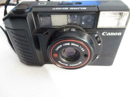 VINTAGE CAMERA - CANON SURE SHOT 35 MM 1:2.8 LENS- EXC- G4 - $24.45